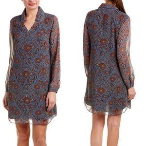 Cabi Provincial Floral Midi Shirt Dress